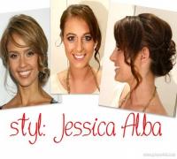 ♡ STYL: JESSICA ALBA ŁATWE UPIĘCIE ZE ŚREDNICH WŁOSÓW ♡