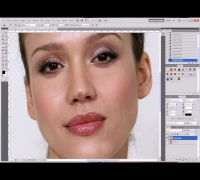 1/4 Tutorial photoshop maquillaje completo full make up jessica alba