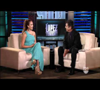 a very pregnant Jessica Alba on Lopez Tonight 1 TBS HD