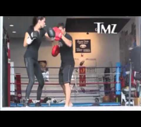 Adriana Lima Boxing Training