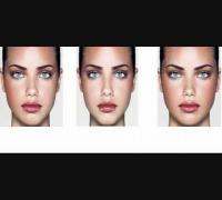 Adriana Lima Facial Symmetry