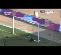 Amazing Score In China U-20  Soccer Game,   Amazing Own Goal,辽宁全运会最精彩进球,2013