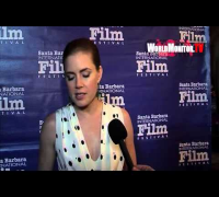 Amy Adams arrives and Interviewed at 28th Santa Barbara International Film Festival