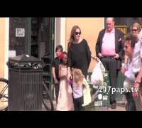 Angelin Jolie and Kids Go To Market in New Orleans