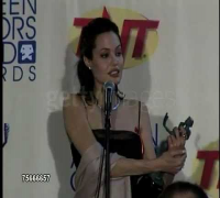 Angelina Jolie at 2000 Screen Actors Guild SAG Awards press room.