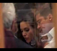 Angelina Jolie & Brad Pitt at a restaurant in Cannes - papparazzi