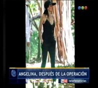 Angelina Jolie después de la operación - Telefe Noticias