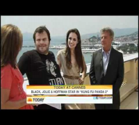 Angelina Jolie, Jack Black & Dustin Hofman Interview for Today Show in Cannes