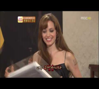 Angelina Jolie Korea TV broadcast interview