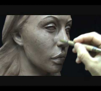 Angelina Jolie portarait . Sculpting portrait. Demo