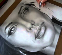 Angelina Jolie Speed drawing