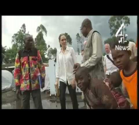 Angelina Jolie visits warzone rape victims