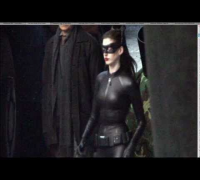 Anne Hathaway's Full Catwoman Costume