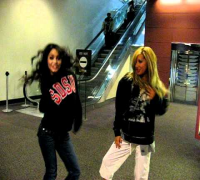 Ashley Tisdale - Ashley Tisdale and Vanessa Hudgens singing Wind It Up (Gwen Stefani cover)