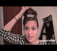 "Audrey Hepburn ""Breakfast at Tiffany's"" Inspired Updo"