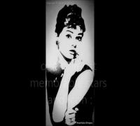 Audrey Hepburn Nail Art Design :)