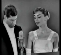 Audrey Hepburn presenting at the 28th Academy Awards