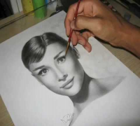 Audrey Hepburn speed drawing -portrait