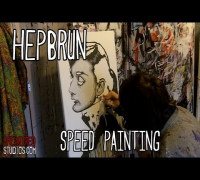 AUDREY HEPBURN - SPEED PAINTING - Pop Art - Artist Stephen Quick
