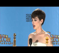 Backstage with Anne Hathaway, best supporting actress