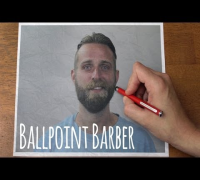 Ballpoint Barber // Stop-motion Reverse Haircut and Beard-cut // Trim 2