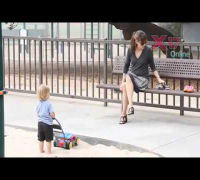 Ben Affleck Takes Girls to FroYo Jennifer Garner Plays With Kids At Park