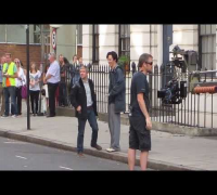 Benedict Cumberbatch & Martin Freeman play for the crowd: Setlock 21st August 2013