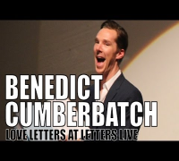 Benedict Cumberbatch reads a love letter at Letters Live