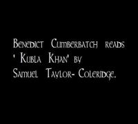 Benedict Cumberbatch reads 'Kublai Khan'