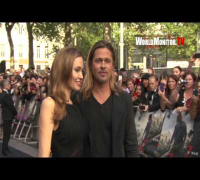 Brad Pitt and Angelina Jolie arrive at World War Z London Film Premiere