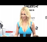 "Britney Spears ""The Smurfs 2"" Los Angeles Premiere Blue Carpet Arrivals"
