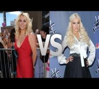 Britney Spears vs Christina Aguilera Batalla de Juezas!