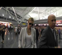 Charlize Theron Arriving NYC Ignoring Fans & And Showing Mean Faces