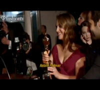 Christian Bale and Natalie Portman @ The Governor's Ball Oscars 2011 | FashionTV - FTV.com