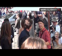 Christian Bale and wife arrive at Christopher Nolan Handprint Ceremony in Hollywood