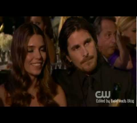 Christian Bale Moments @ The Critics Choice Awards 2013