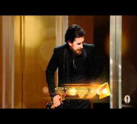 Christian Bale winning Best Supporting Actor