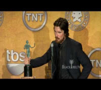 "Christian Bale wins SAG Award for Best Supporting Actor in Film for ""The Fighter"""