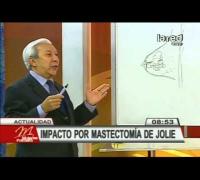 Cirujano Raúl Navarro habla sobre la doble mastectomía de Angelina Jolie