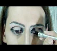 ¿Cómo hacer? ojos de Angelina Jolie Makeup (Prueba de caracterización)
