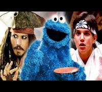 Cookie Monster Spoofs Hollywood Movies