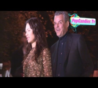 Danny Huston & Olga Kurylenko greet fans at W Magazine Pre Golden Globes Party at Chateau Marmont