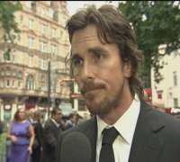 Dark Knight Rises: Christian Bale talks Batman at London premiere
