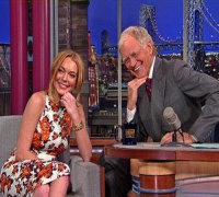 David Letterman - Lindsay Lohan on Going to Rehab