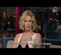 David Letterman Show - Charlize Theron .