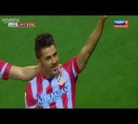 David Villa Golazo Amazing Volley Goal vs Barcelona (Atletico Madrid vs Barcelona 1-1) [HD]