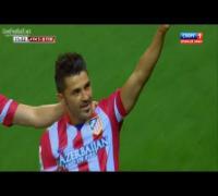 David Villa Golazo Amazing Volley Goal vs Barcelona (Atletico Madrid vs Barcelona 1-1) [HD]
