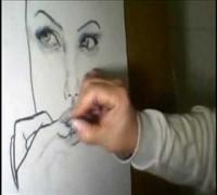 Desenho da Angelina Jolie