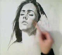 Dibujo Artistico Megan Fox / Artistic Drawn Megan Fox.