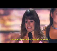 Discurso de Lea Michele sobre Cory Monteith no Teen Choice Awards LEGENDADO